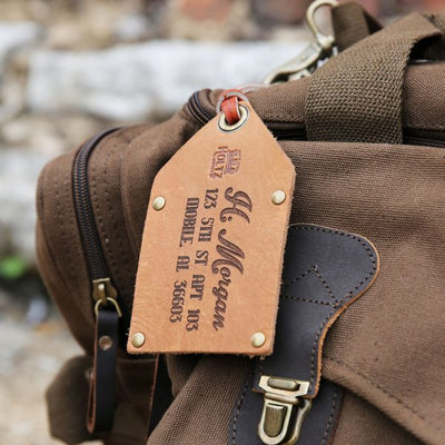 The Traveler Fine Leather Luggage Tag