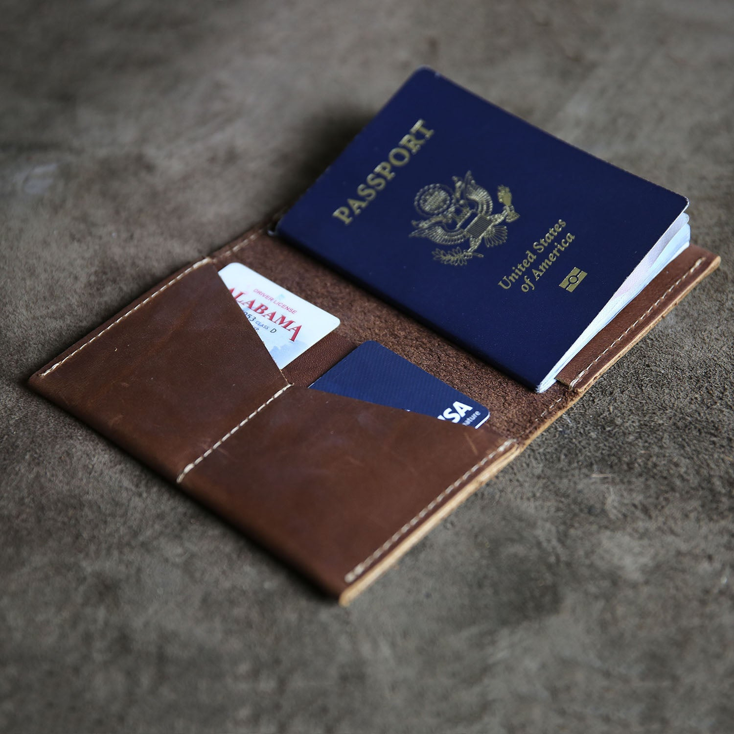 008eadffd The Officially Licensed Marine Corps Pioneer Fine Leather Passport Wallet  Passport Cover