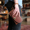 The Betty Jean Women's Fine Leather Envelope Clutch Pocketbook Wallet With Optional Insert