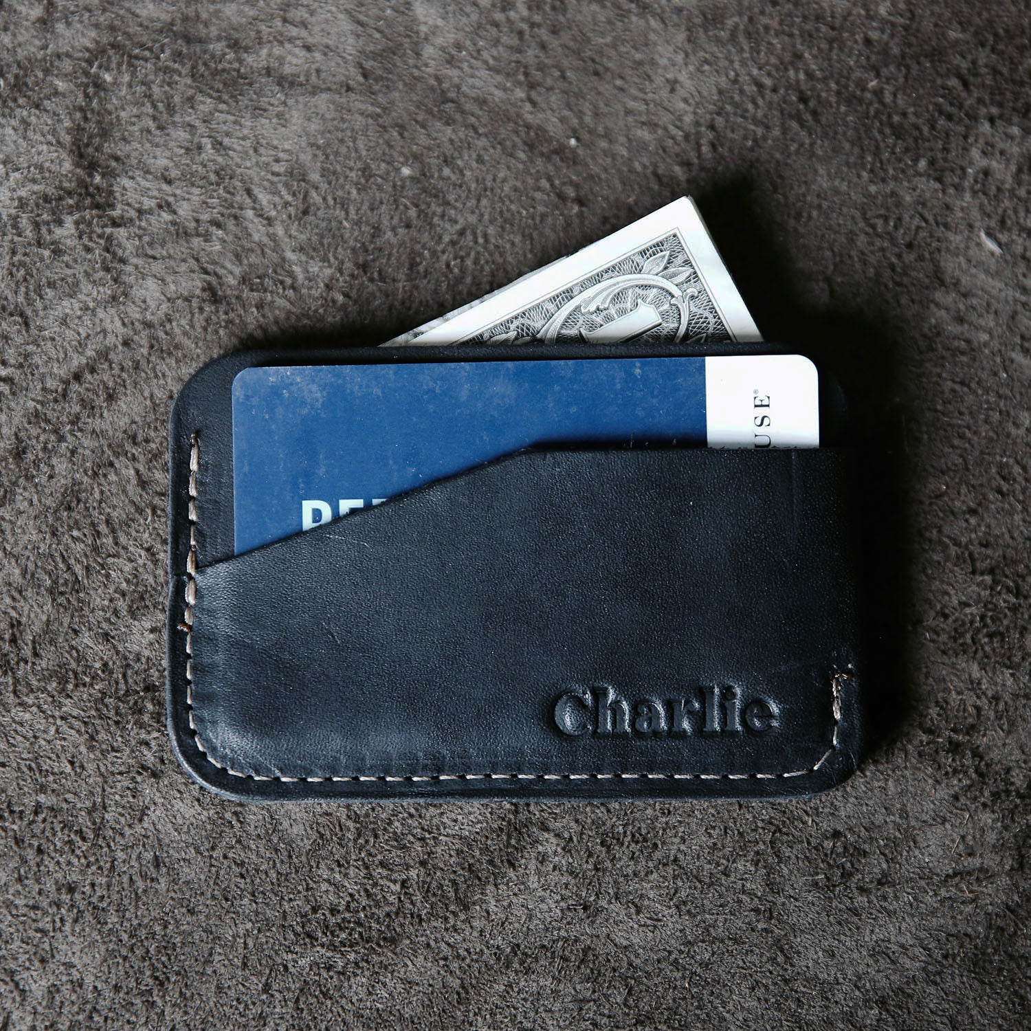 The Charleston Personalized Fine Leather Triple Sleeve Front Pocket Wallet