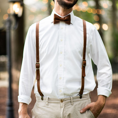 The Mr. Baker Fine Leather Bow Tie Bowtie
