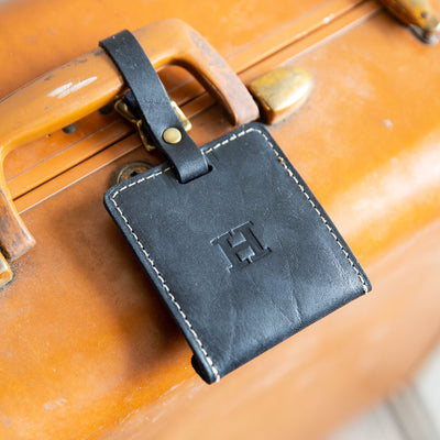 The Adventurer Fine Leather Luggage Tag