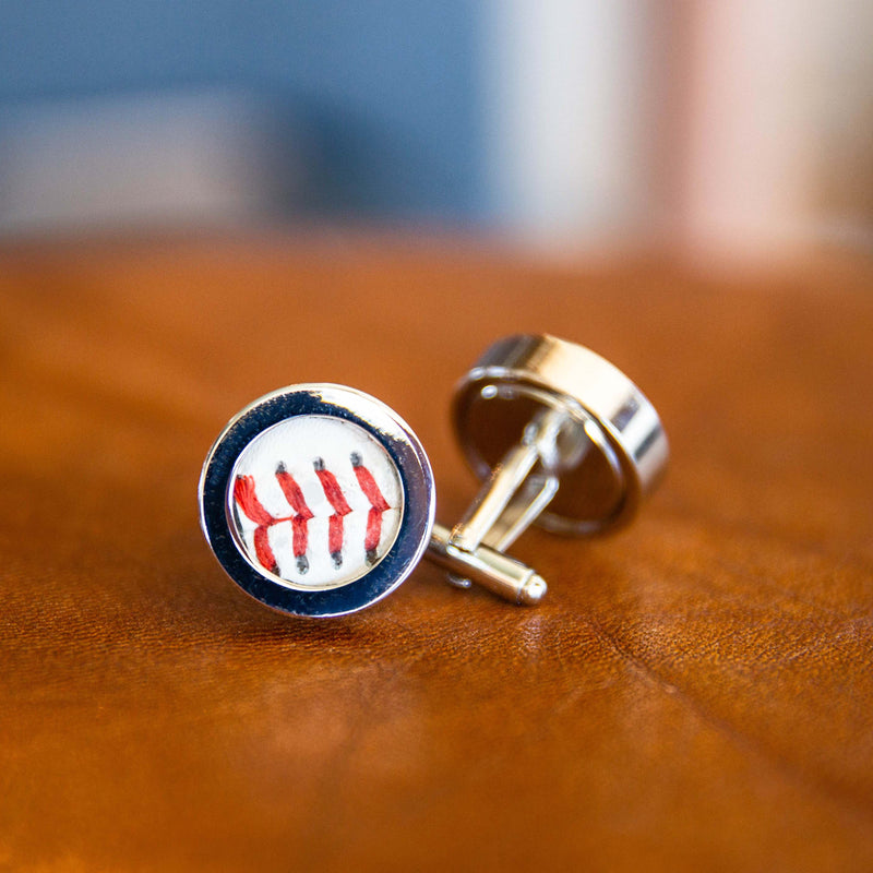 The No. 714 Game Used Baseball Cufflinks Cuff Links