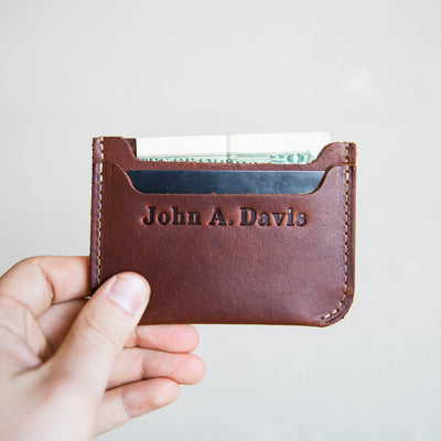 The Bradford Front Pocket Double Sleeve Fine Leather Wallet
