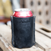 "The ""Tin Can"" Personalized Fine Leather Can Coozie Holder"
