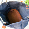 The Market Tote - Fine Leather & Waxed Canvas Bag Purse