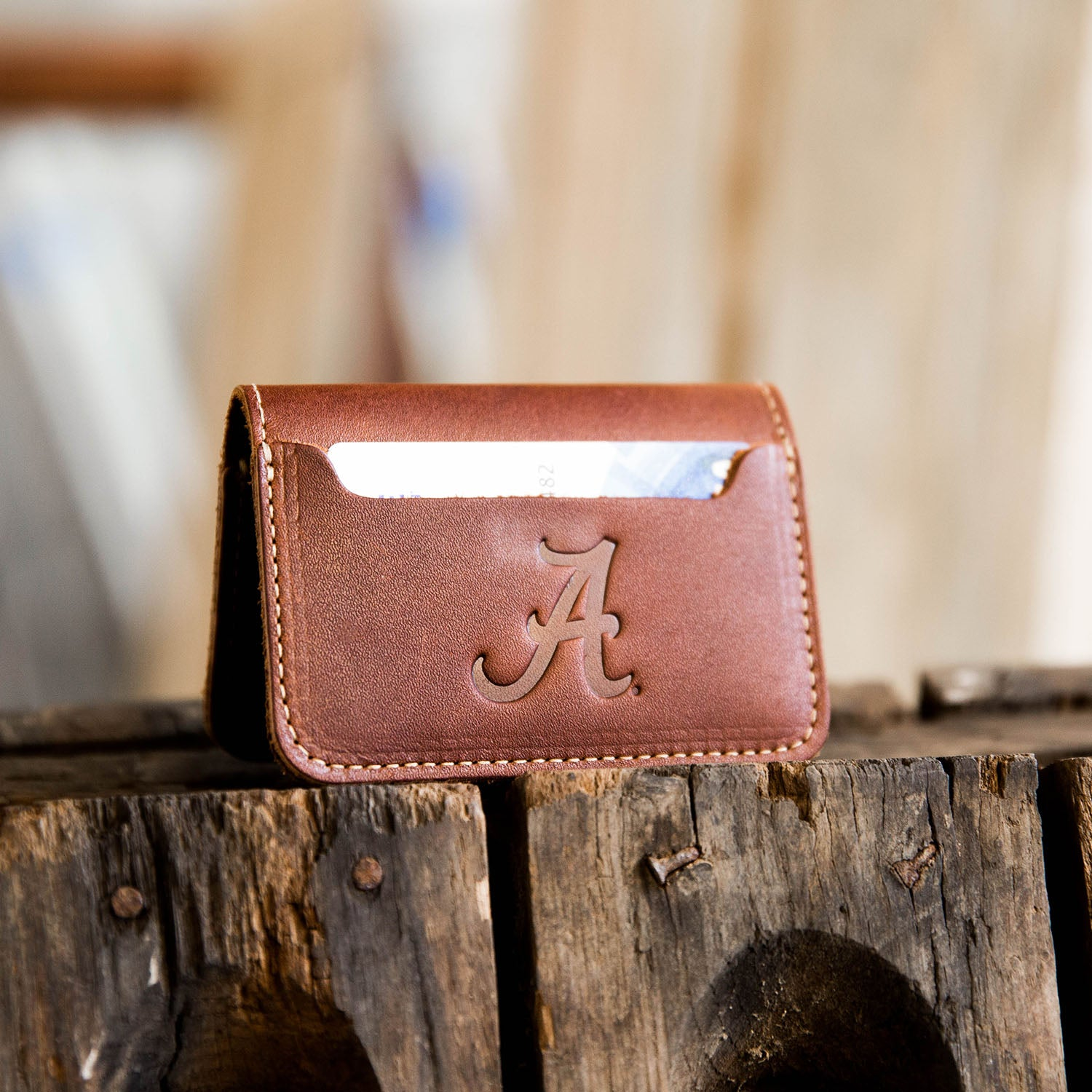 The Officially Licensed  Alabama Gates Bifold Money Clip Wallet