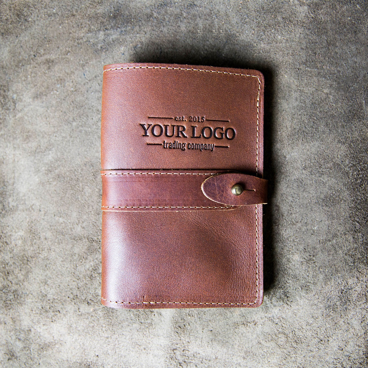 Custom Logo Leather Pocket Journal Cover For Field Notes