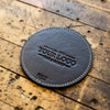 The Circle Ranch House Custom Logo Fine Leather Coaster Set of 4 Coasters Put Your Logo On It Corporate