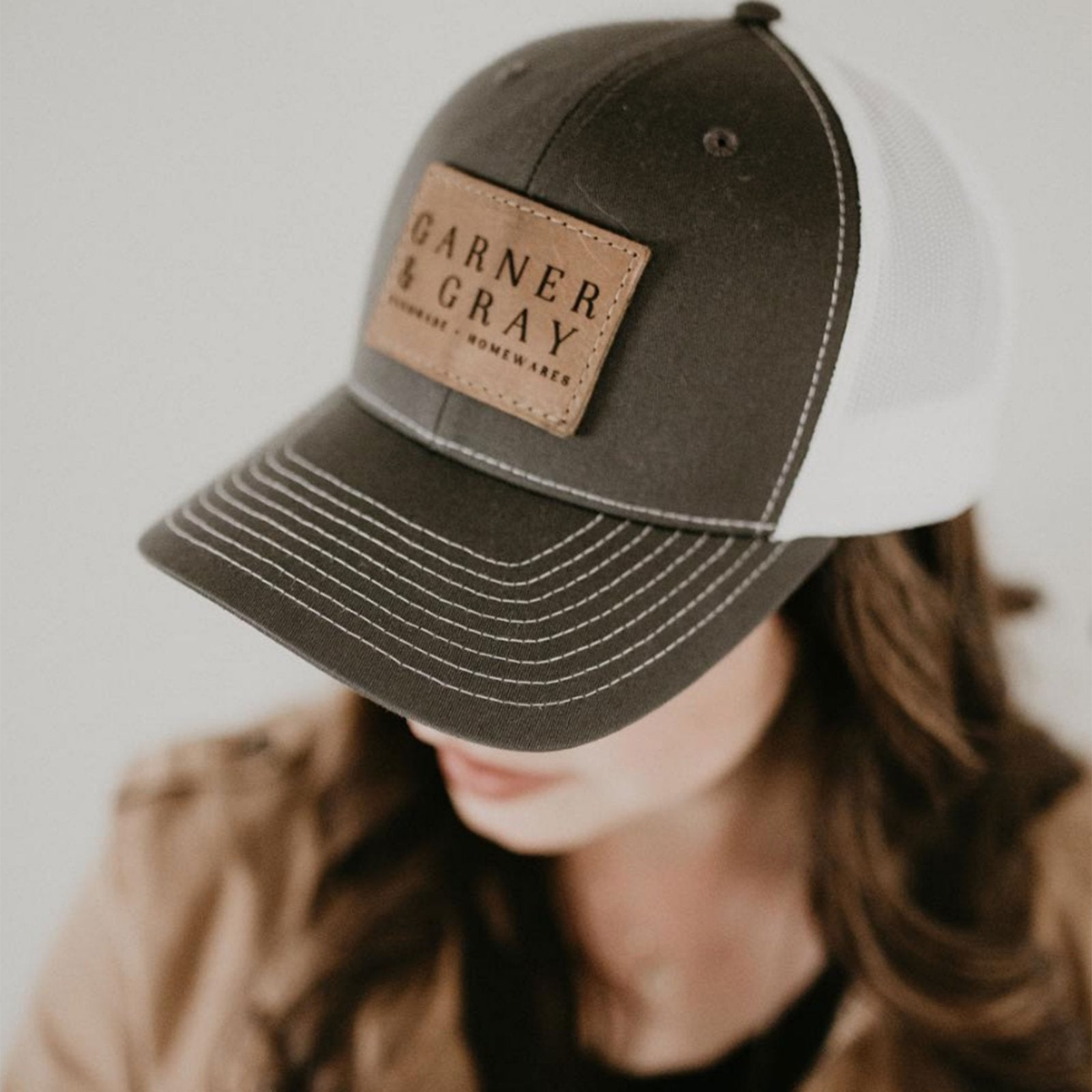 Custom Leather Patch Hat with YOUR LOGO - Customized