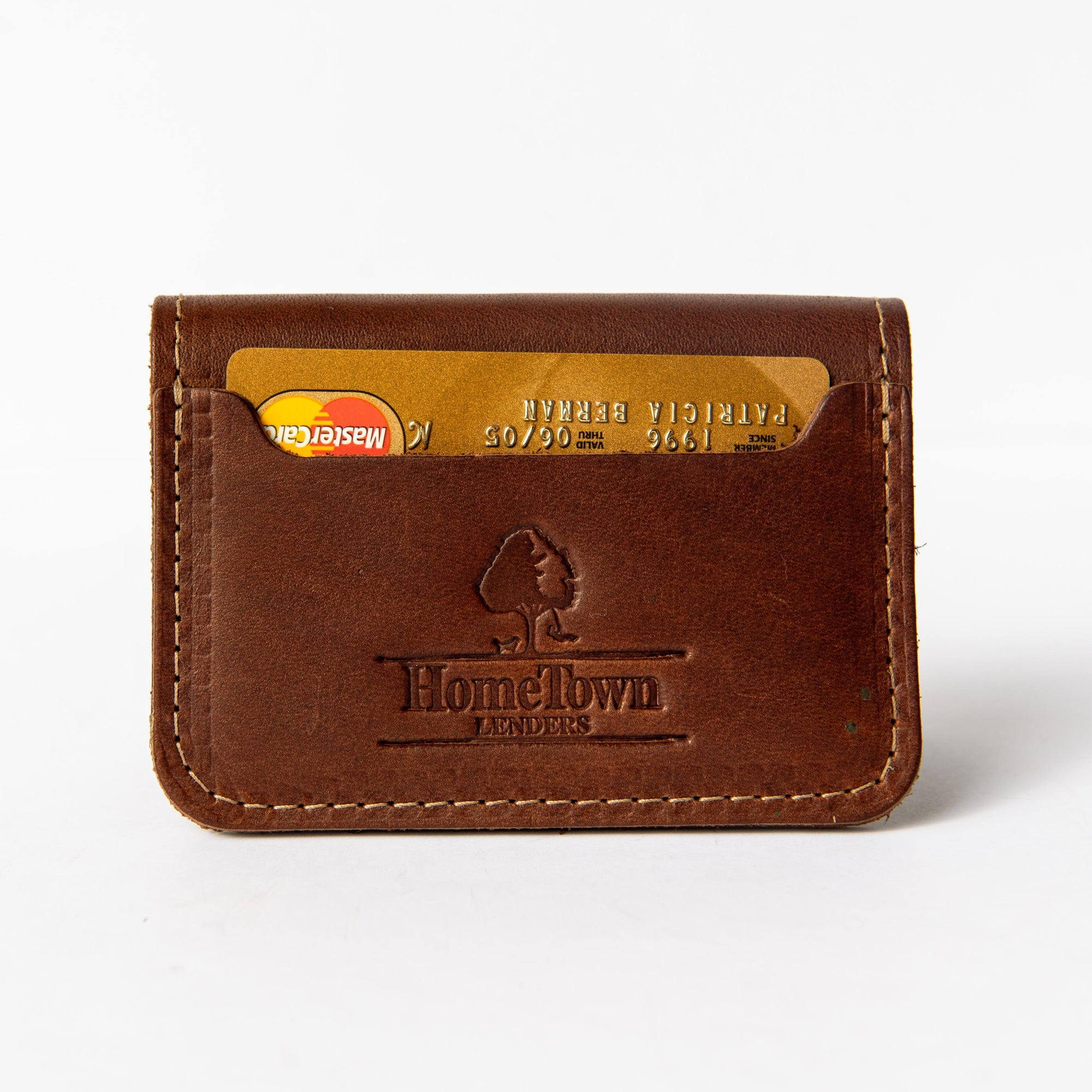 The Gates Custom Logo Fine Leather Bifold Money Clip Wallet Put Your Logo on it Corporate