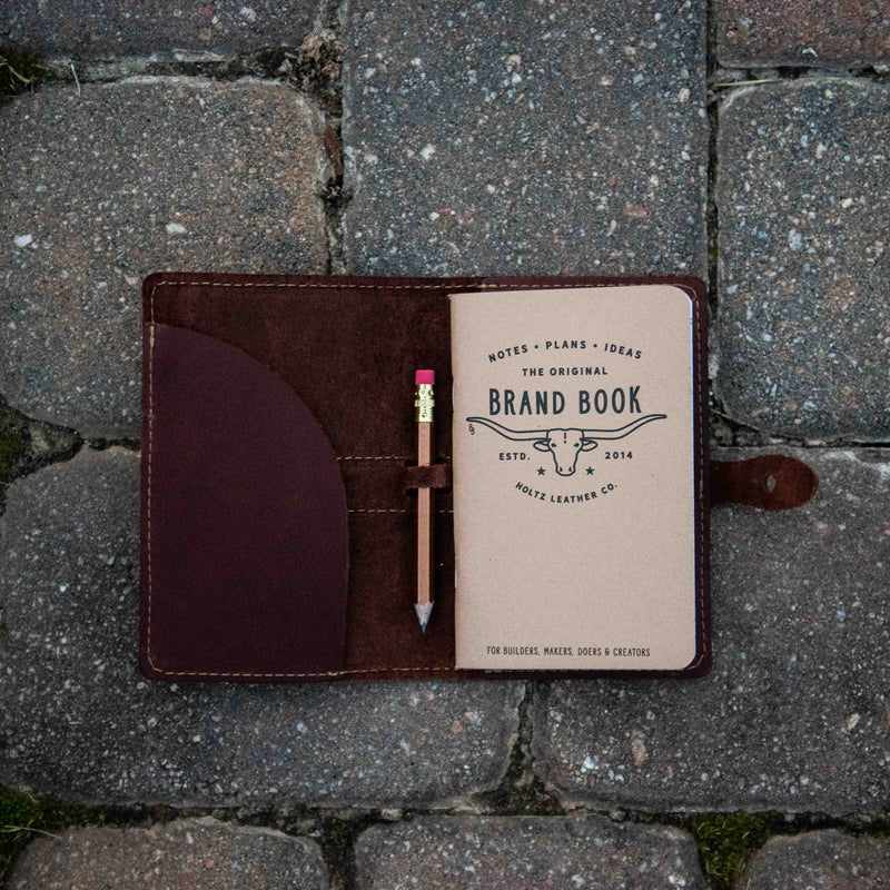 The Surveyor Fine Leather Pocket Journal Cover for Field Notes