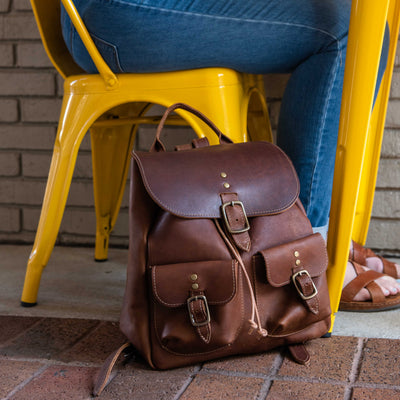 The Emerson Pack Fine Leather Backpack Purse