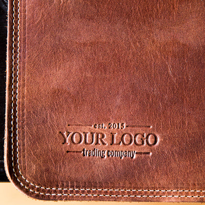 Custom Logo Fine Leather Desk Mat Put Your Logo On It Corporate