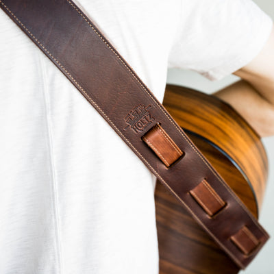 The Legend ~ Personalized Fine Leather Acoustic Guitar Strap