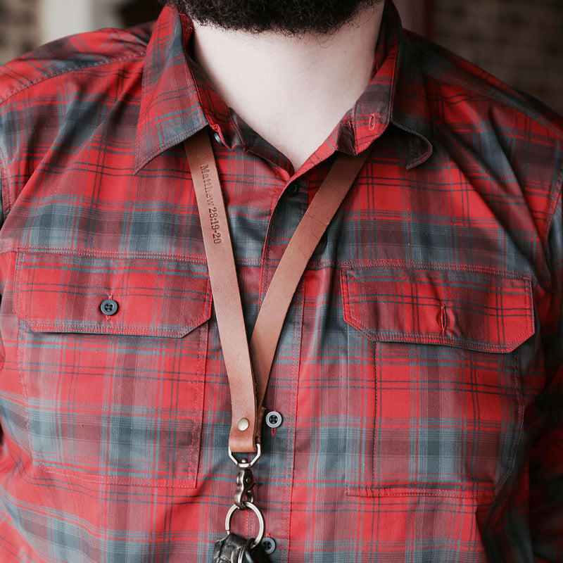 The Producer – Personalized Fine Leather Lanyard – With Swivel Clip