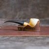 Personalized Fine Leather Pipe Boat Holder