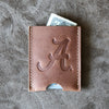 The Officially Licensed Alabama Jefferson Personalized Fine Leather Card Holder Wallet