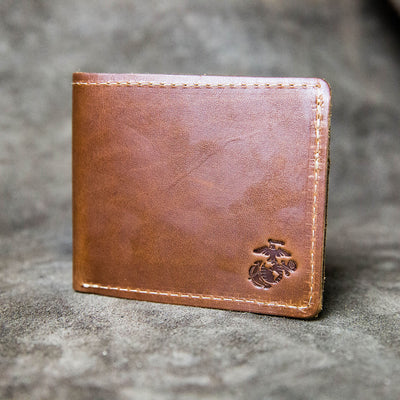 The Officially Licensed Marine Corps Big Dixie Fine Leather BiFold Wallet