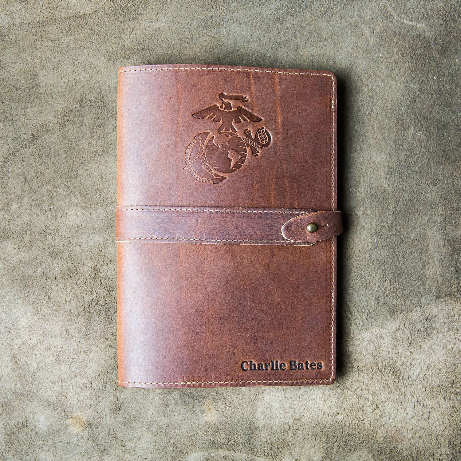 The Officially Licensed Marine Corps Inventor Fine Leather A5 Moleskine Journal Diary