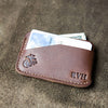 The Officially Licensed Marine Corps Charleston Fine Leather Triple Sleeve Front Pocket Wallet