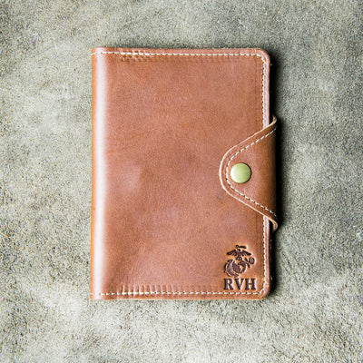 The Officially Licensed Marine Corps Logbook Fine Leather Field Notes Moleskine Wallet Pocketbook Cover