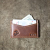 The Officially Licensed Marine Corps Vernon Fine Leather Front Pocket Card Holder Wallet