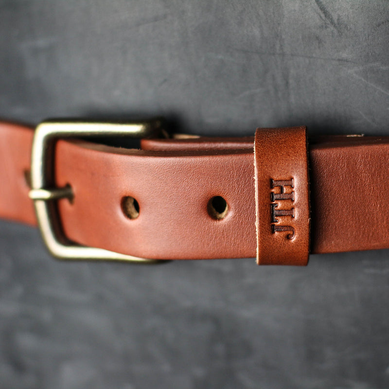 Fine Leather Men's Dress Belt