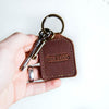 Custom Logo Fine Leather Key Chain Put Your Logo On It Corporate
