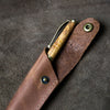 Hand-Turned Olive Wood Comfort Style Pen + Personalized Pen Sleeve