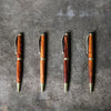 Handmade Rose Wood Comfort Style Pen + Personalized Pen Sleeve