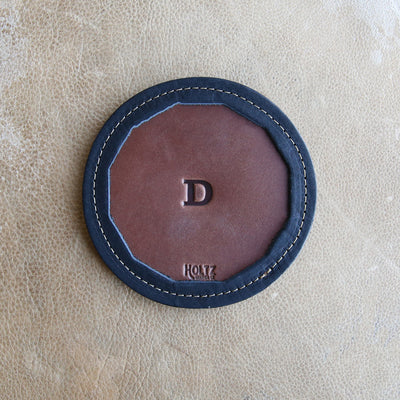 The Tavern Personalized Fine Leather Coaster Set of 4 Coasters
