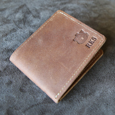 The Officially Licensed Auburn Big Dixie Fine Leather BiFold Wallet