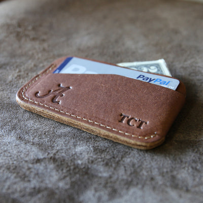 The Officially Licensed Alabama Charleston Personalized Fine Leather Triple Sleeve Front Pocket Wallet