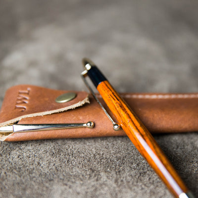 Hand-Turned Rose Wood Stylus + Pen Sleeve