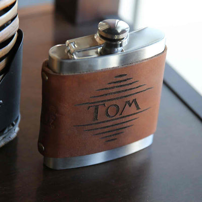 The Hatch Fine Leather Flask Wrap