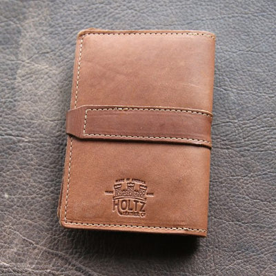 The Surveyor Custom Logo Fine Leather Pocket Journal Cover for Field Notes Put Your Logo On It Corporate