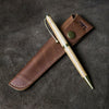 Hand-Turned Tennessee Whiskey Barrel Wood Comfort Style Pen + Personalized Pen Sleeve