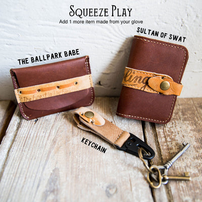 Custom Glove Wallet ~ Made from YOUR Baseball Glove!