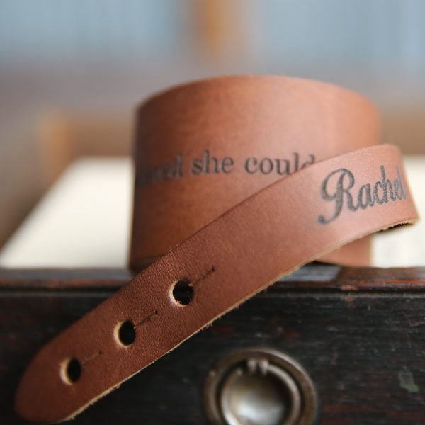The Dock Personalized Fine Leather Cuff Bracelet