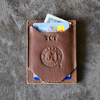 The Officially Licensed Crimson Tide Trey Money Clip Front Pocket Fine Leather Wallet