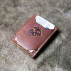The Officially Licensed Marine Corps Trey Money Clip Front Pocket Fine Leather Wallet