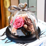 Preserved rose in glass dome - Funy Flower