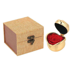 Handmade Preserved Roses In Metal Box Gifts for Mother's Day Anniversary Birthday Wedding - Funy Flower