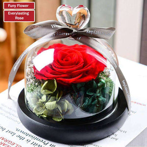 Real flowers preserved in glass dome - funyflower