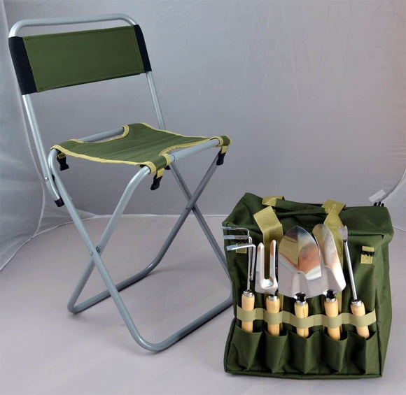 Gardener Seat & Tools Kit - Funy Flower