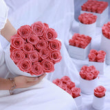 Preserved Roses In Rose Hat Box - Funy Flower