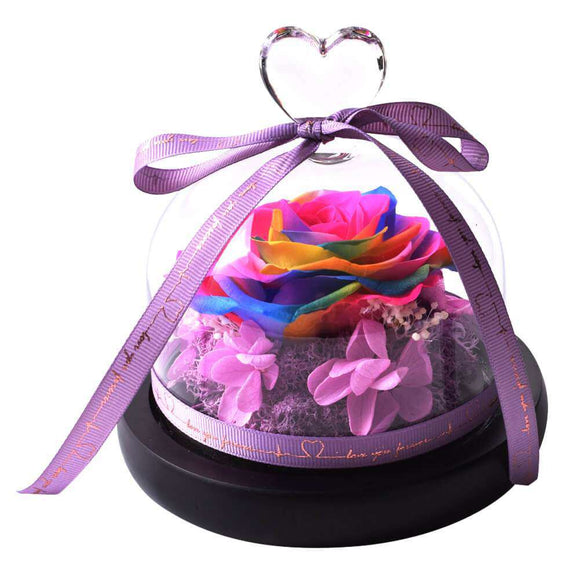 Preserved Rose In Glass Gift for Her - Funy Flower