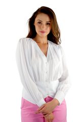 White on White Blouse