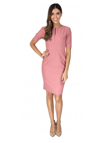 Blush Woman of Wall Street Dress